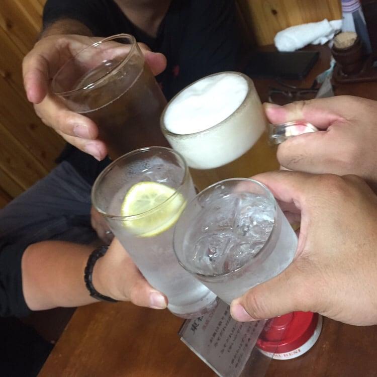 やきとり子虎 埼玉県東松山市 麦焼酎 乾杯