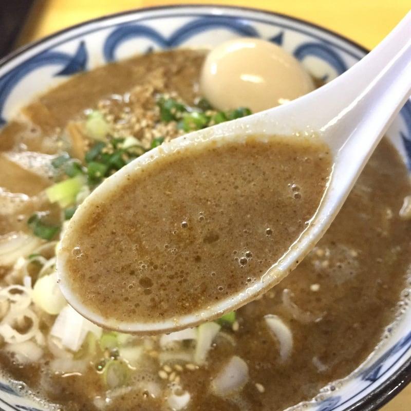 らーめん萬亀 秋田市山王 坦々麺 あっさり塩 スープ