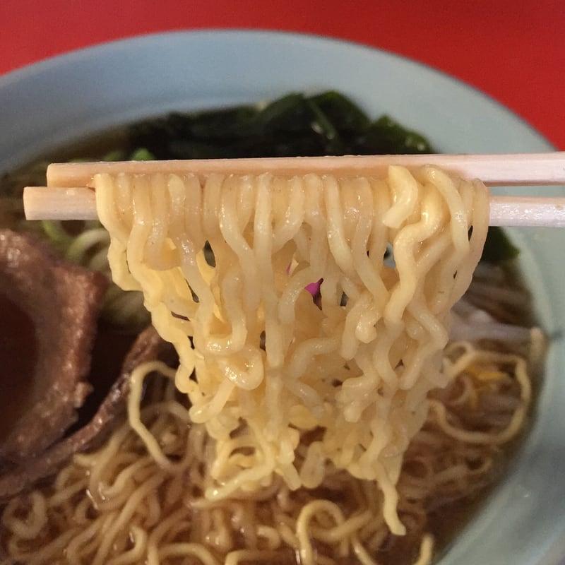 ふじ食堂 秋田県山本郡三種町 正油ラーメン 麺