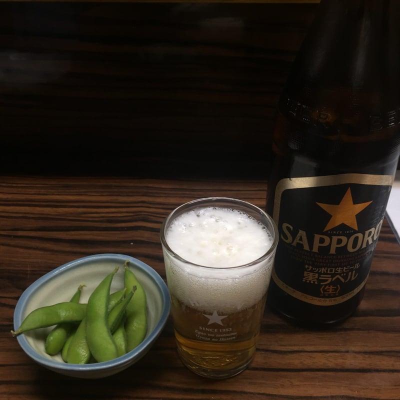 餃子元祖 八仙 宮城県仙台市青葉区一番町 瓶ビール 枝豆