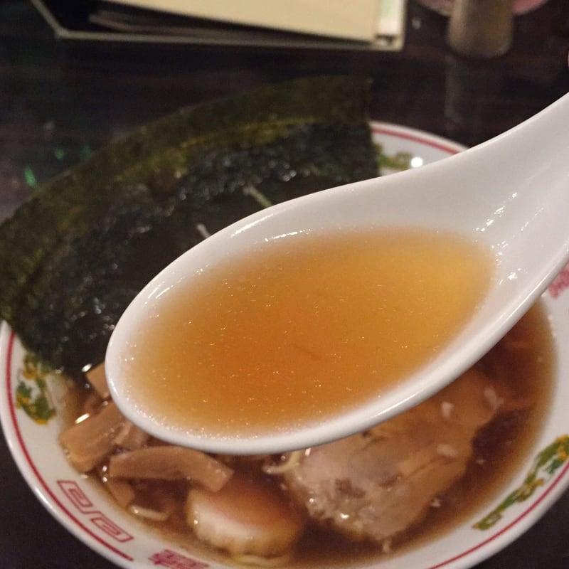 飲み処andキッチン ほのじぐみ 秋田市南通 ハマちゃんラーメン(鶏ガラだし) スープ