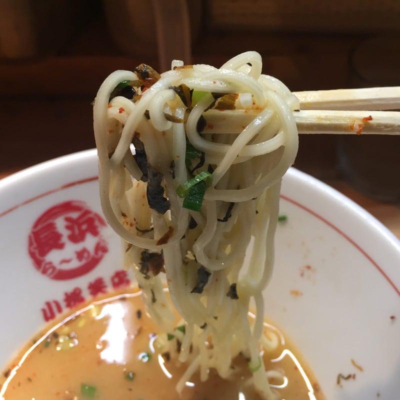 九州長浜らーめん 小松笑店 青森県八戸市三日町 とんこつらーめん 豚骨ラーメン 麺