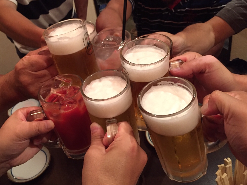 おおまがり大ラーメンフェス2018 打ち上げ 串かつ だるまおとし 乾杯