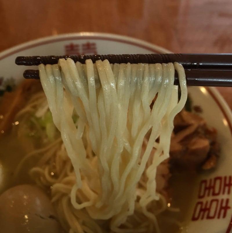 濃厚鶏ガラ 中華そば 東一(あずまいち) 秋田市東通 塩中華そば 麺