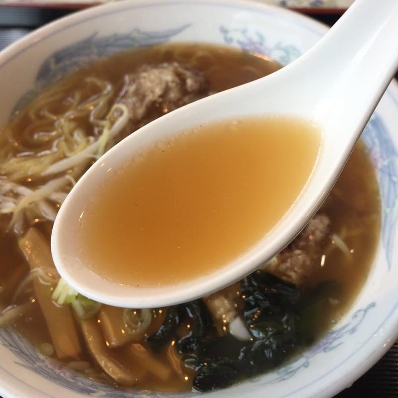中国料理 天花 秋田市新屋 天花麺 醤油味 ラーメン スープ