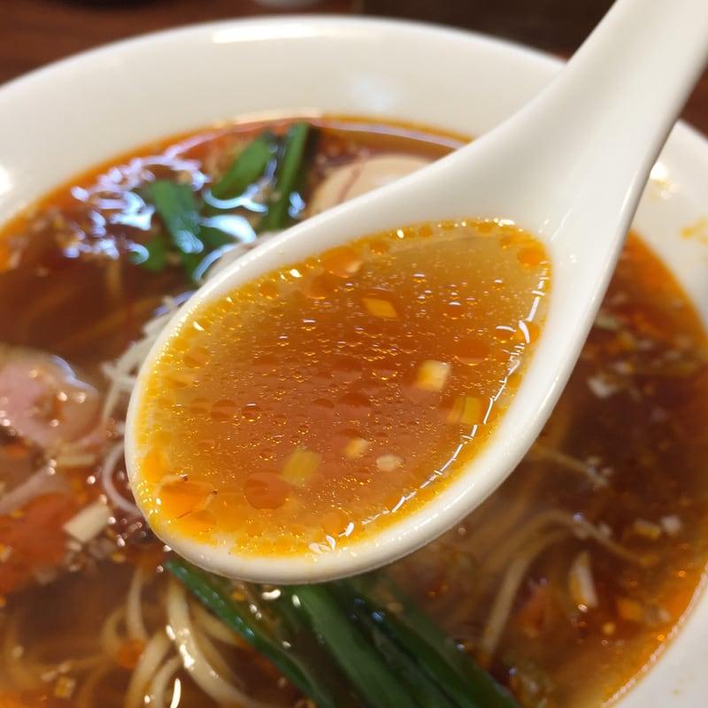 柳麺 多むら 外旭川店 秋田市外旭川 辛シビらぁ麺 スープ