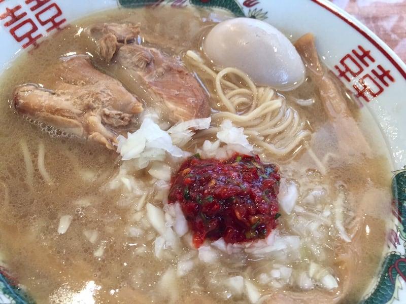 濃厚鶏ガラ 中華そば 東一(あずまいち) 秋田市東通 辛味中華そば 具