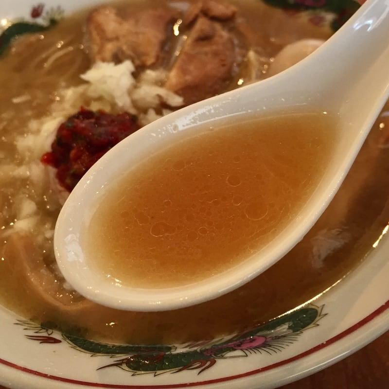 濃厚鶏ガラ 中華そば 東一(あずまいち) 秋田市東通 辛味中華そば スープ