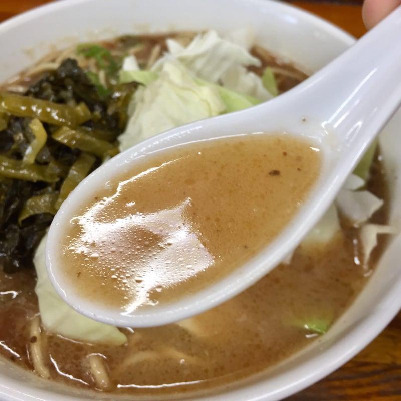 熊本ラーメン くまもとらーめん ブッダガヤ 神奈川小田原市 高菜らーめん スープ