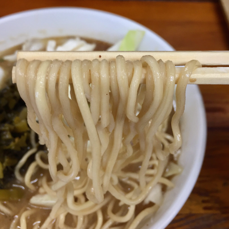 熊本ラーメン くまもとらーめん ブッダガヤ 神奈川小田原市 高菜らーめん 麺