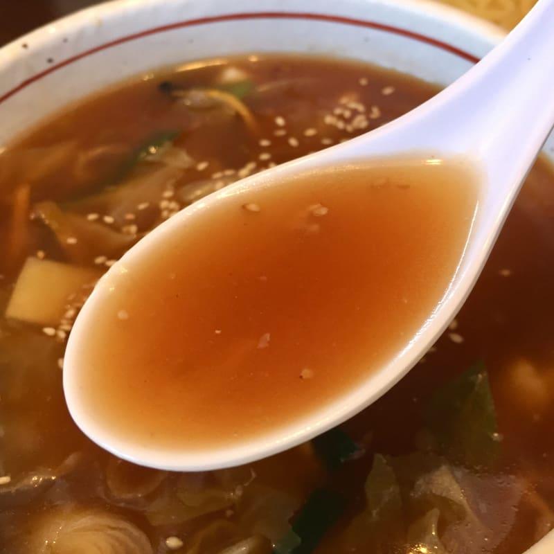 ラーメンショップ チャイナタウン 秋田市卸町 醤油 しょうゆチャンポンつけめん スープ つけ汁