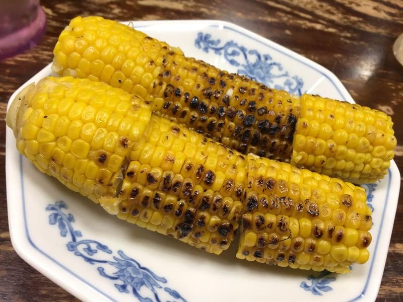 頑固麺飯魂 気むずかし家 長野県長野市 焼きトウモロコシ