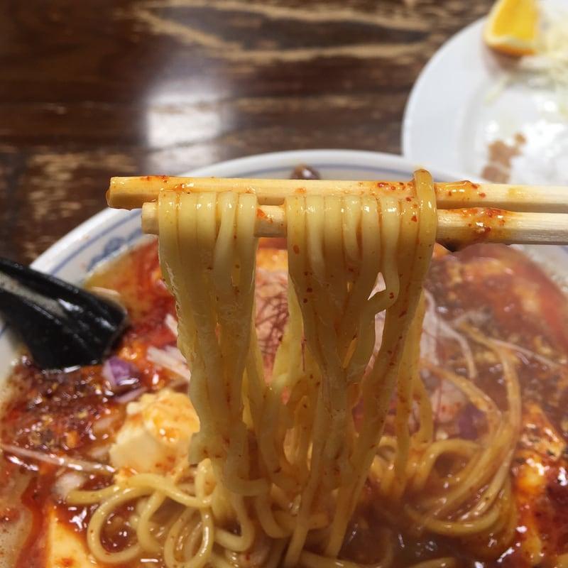 頑固麺飯魂 気むずかし家 長野県長野市 激辛味噌麻婆麺 赤龍王 麺