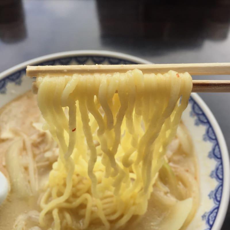食堂ミサ 本店 新潟県妙高市 みそラーメン 味噌ラーメン 半玉 麺