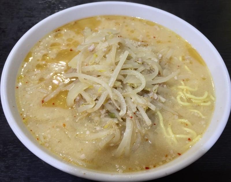 食堂ニューミサ 新潟県上越市 みそラーメン 半麺 味噌ラーメン