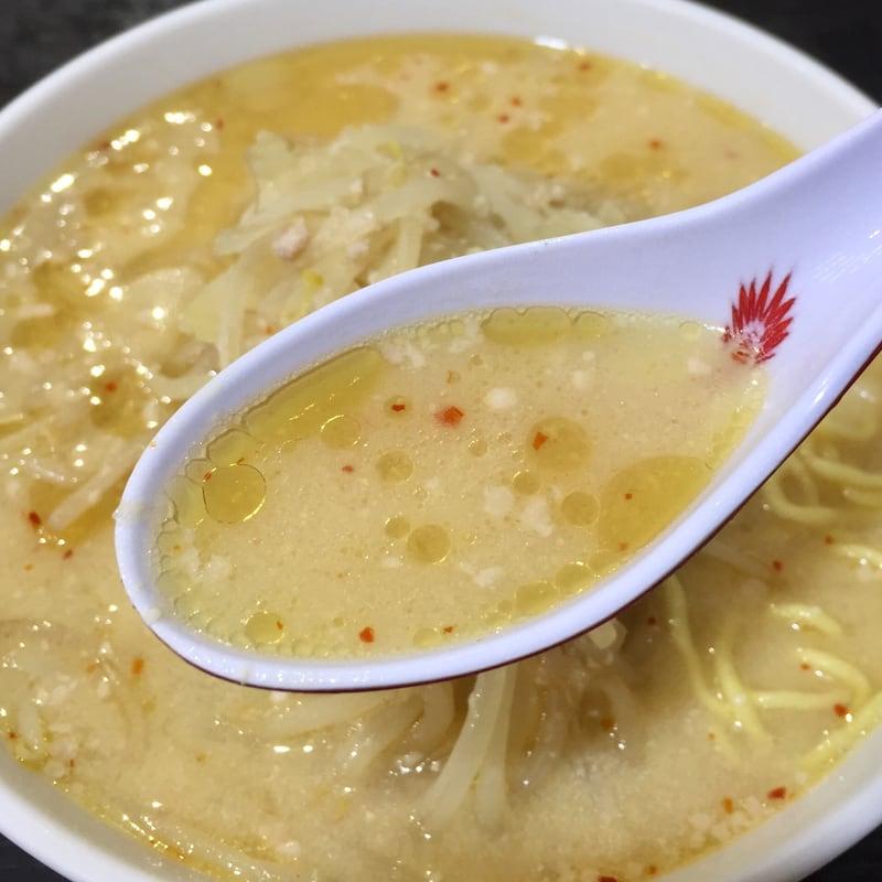 食堂ニューミサ 新潟県上越市 みそラーメン 半麺 味噌ラーメン スープ