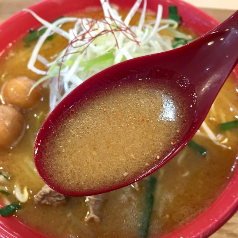 二代目 男寿狼 秋田県横手市 鶏もつ味噌ラーメン スープ