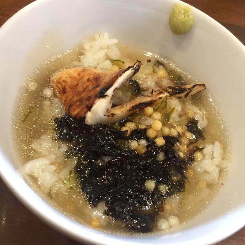 NOODLE SHOP KOUMITEI(香味亭) 秋田県横手市 自家製真鯛の焼き干しと秋の香りの塩ラーメン お茶漬け