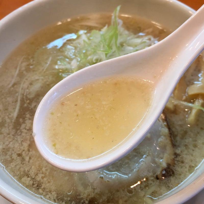 麺屋 朋 秋田市中通 柚子香る塩 塩ラーメン スープ