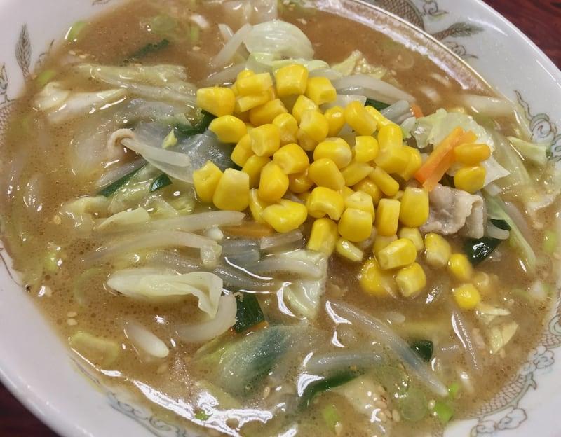 お食事処 春駒食堂 秋田市中通 味噌タンメン 具