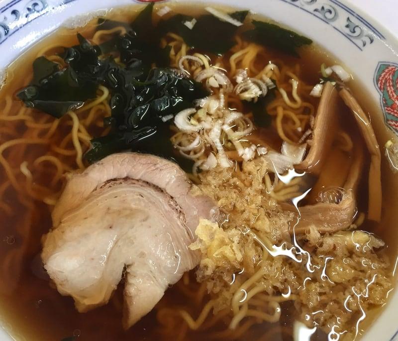 いく代食堂 秋田県大仙市大曲 和風ラーメン 醤油ラーメン 具