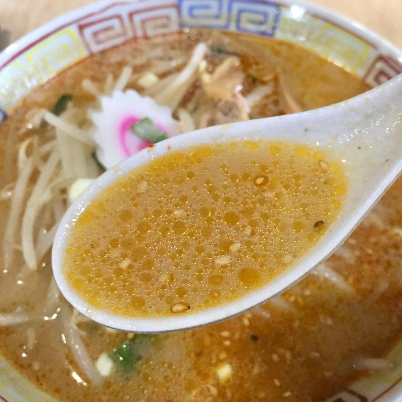 東寿司 秋田県横手市平鹿町 半みそラーメン 味噌ラーメン スープ