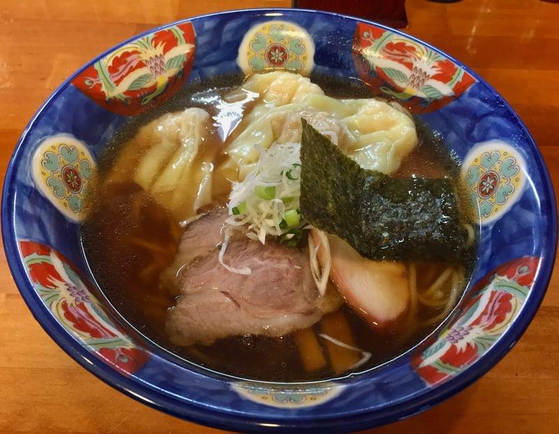 支那そば 幸雲(こううん) 福島県須賀川市 特製ワンタン麺(ハーフ) 醤油