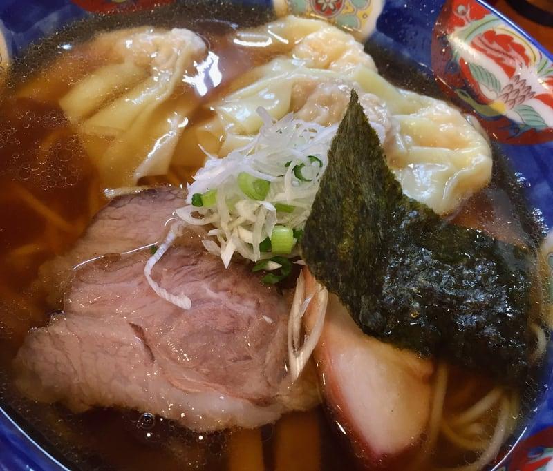 支那そば 幸雲(こううん) 福島県須賀川市 特製ワンタン麺(ハーフ) 醤油 具