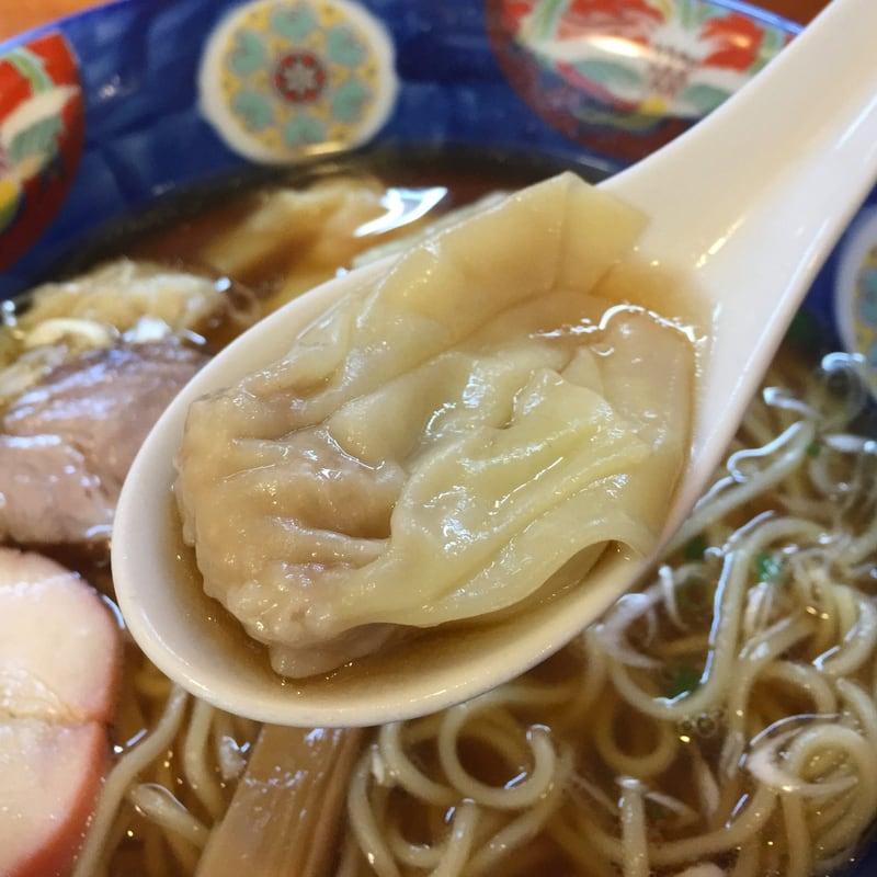 支那そば 幸雲(こううん) 福島県須賀川市 特製ワンタン麺(ハーフ) 醤油 肉ワンタン