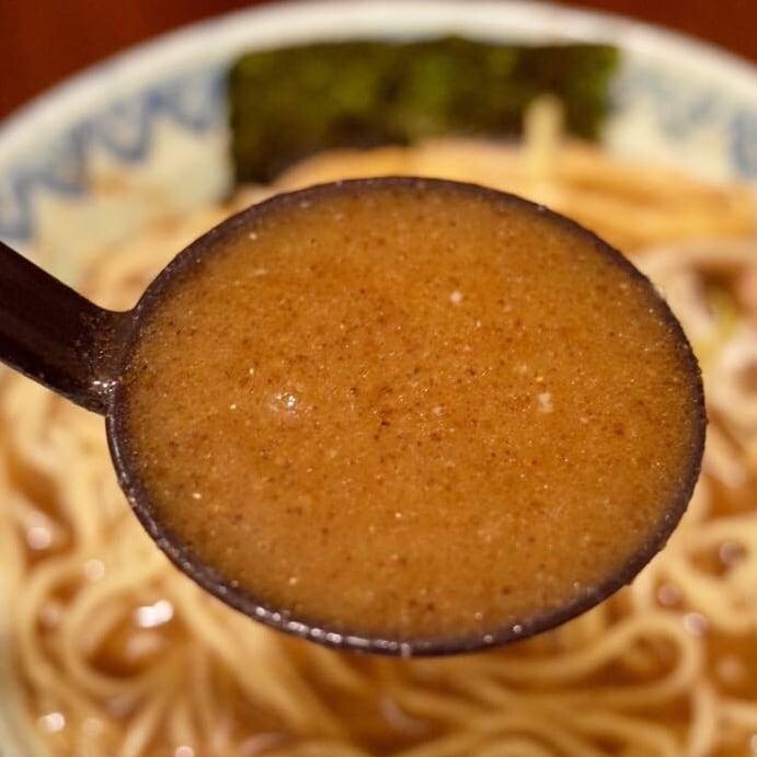 麺屋 蕪村(ぶそん) 長野県長野市 蕪村そば 鶏白湯ラーメン スープ