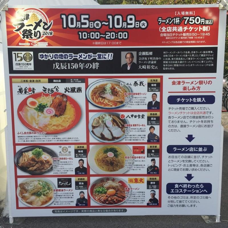 会津ラーメン祭り2018 福島県会津若松市 鶴ヶ城公園東口駐車場