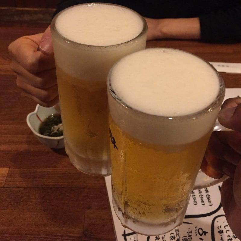 居酒屋 北の酒林 福島県会津若松市 生ビール 乾杯