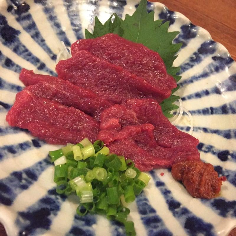 居酒屋 北の酒林 福島県会津若松市 さくら刺身 馬肉