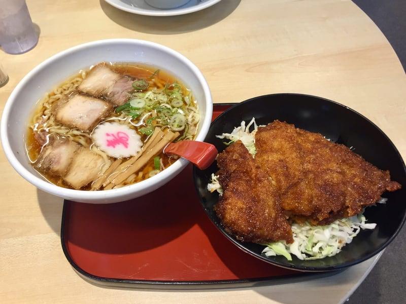 中華そば めでたいや 福島県会津若松市 中華そば ミニソースかつ丼 セット