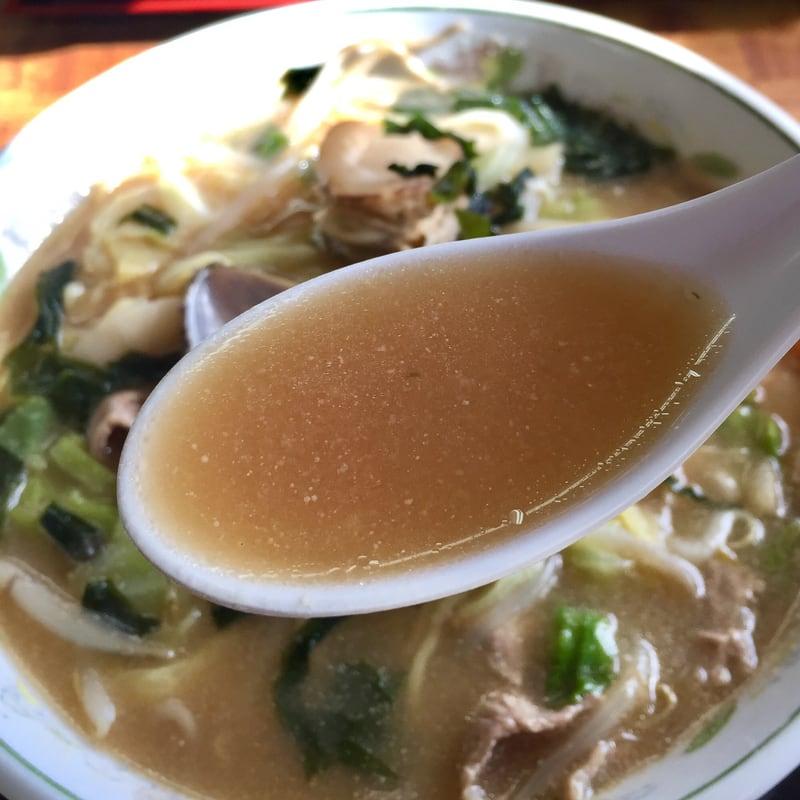 ドライバーレストラン海 秋田県山本郡八峰町八森 磯チャンポンラーメン スープ