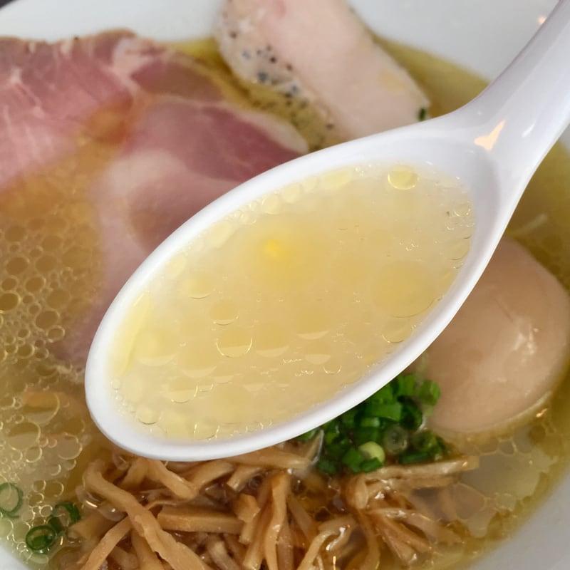 麺屋 満開 秋田市広面 塩 塩ラーメン スープ