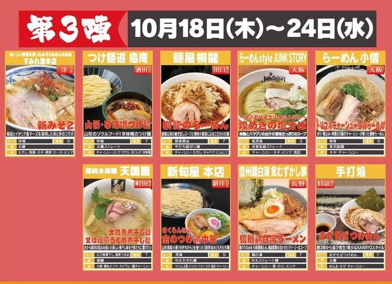 大つけ麺博 10周年特別企画「ラーメン日本一決定戦」 東京都新宿区歌舞伎町 大久保公園