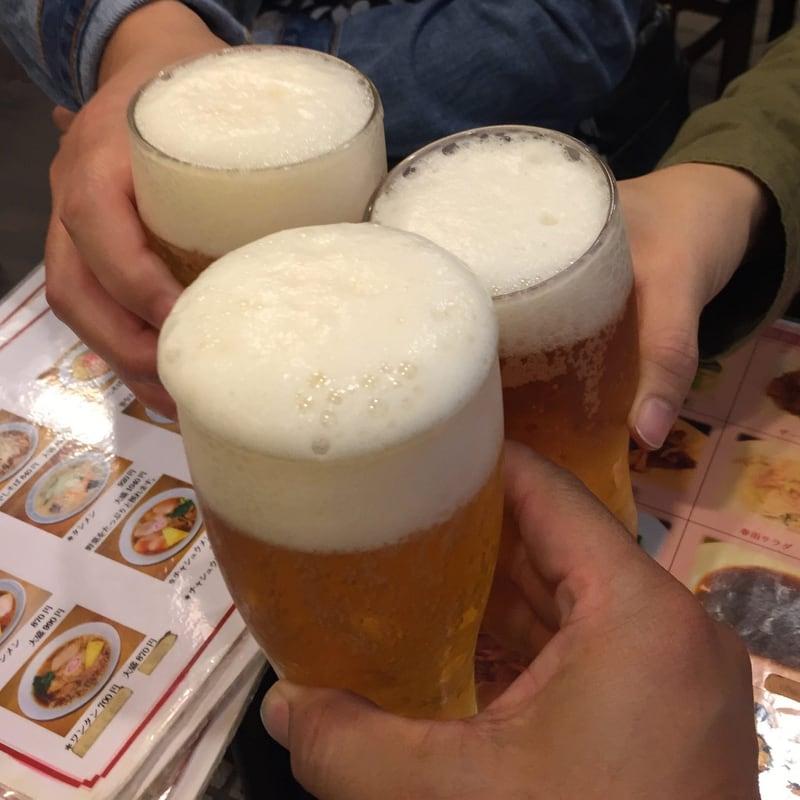 中華そば 萬福 東京都中央区銀座 東銀座 町中華飲み ビール 乾杯