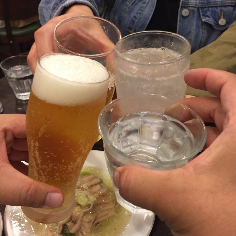 中華そば 萬福 東京都中央区銀座 東銀座 乾杯