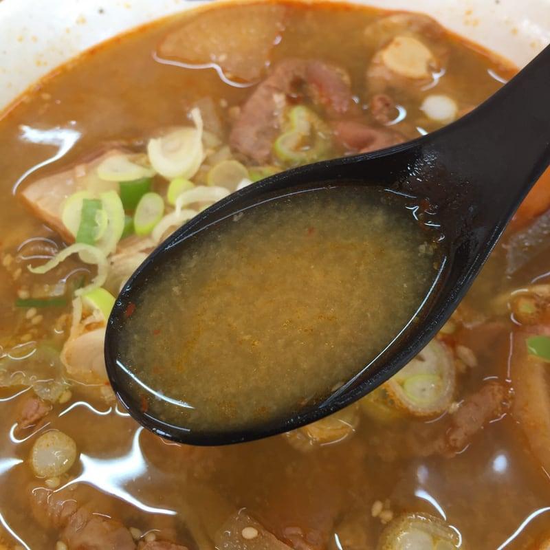 ラーメンつかさ 福島県田村郡小野町 もつ煮らーめん(みそ味) スープ