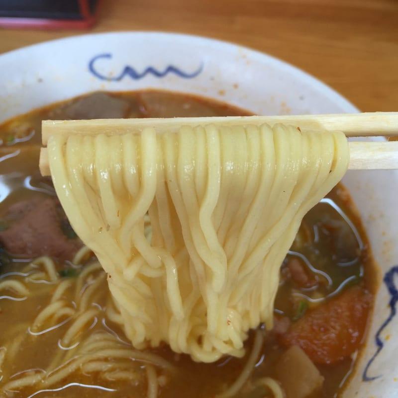 ラーメンつかさ 福島県田村郡小野町 もつ煮らーめん(みそ味) 麺