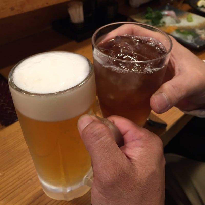 和楽 魚菜亭 福島県いわき市平 ビール 乾杯