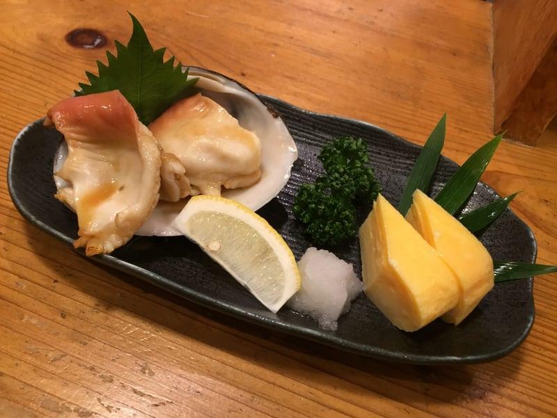 和楽 魚菜亭 福島県いわき市平 お通し ホッキ貝バター焼き