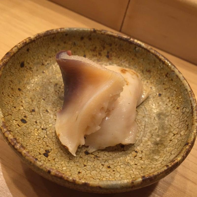 すし匠 秋田市大町 北海道長万部産ホッキ貝の炙り