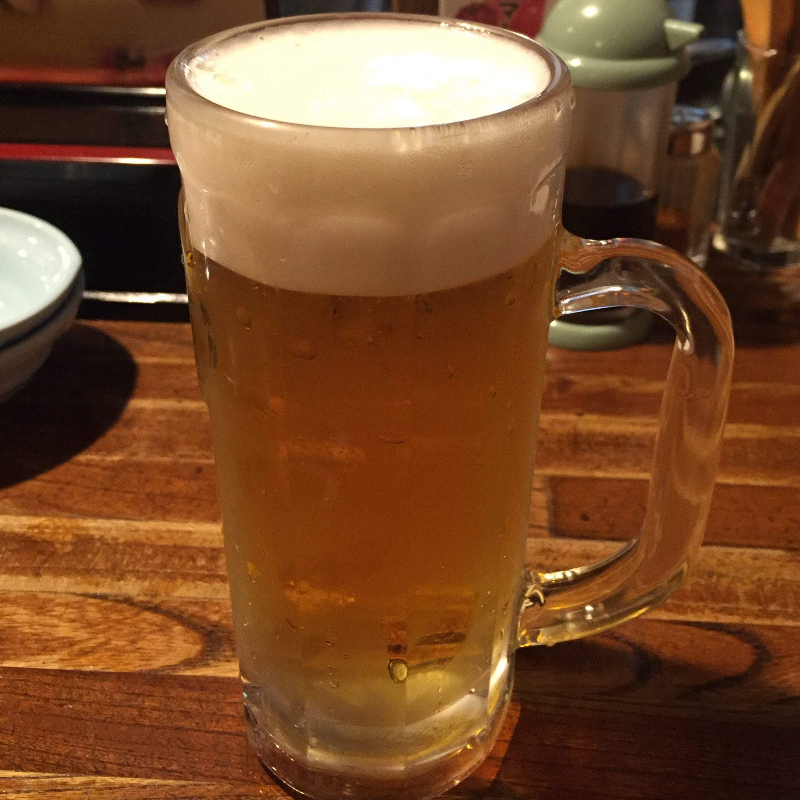 おでん三吉 宮城県仙台市青葉区一番町 生ビール