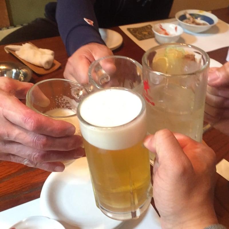 さらや 秋田県秋田市八橋 生ビール 乾杯