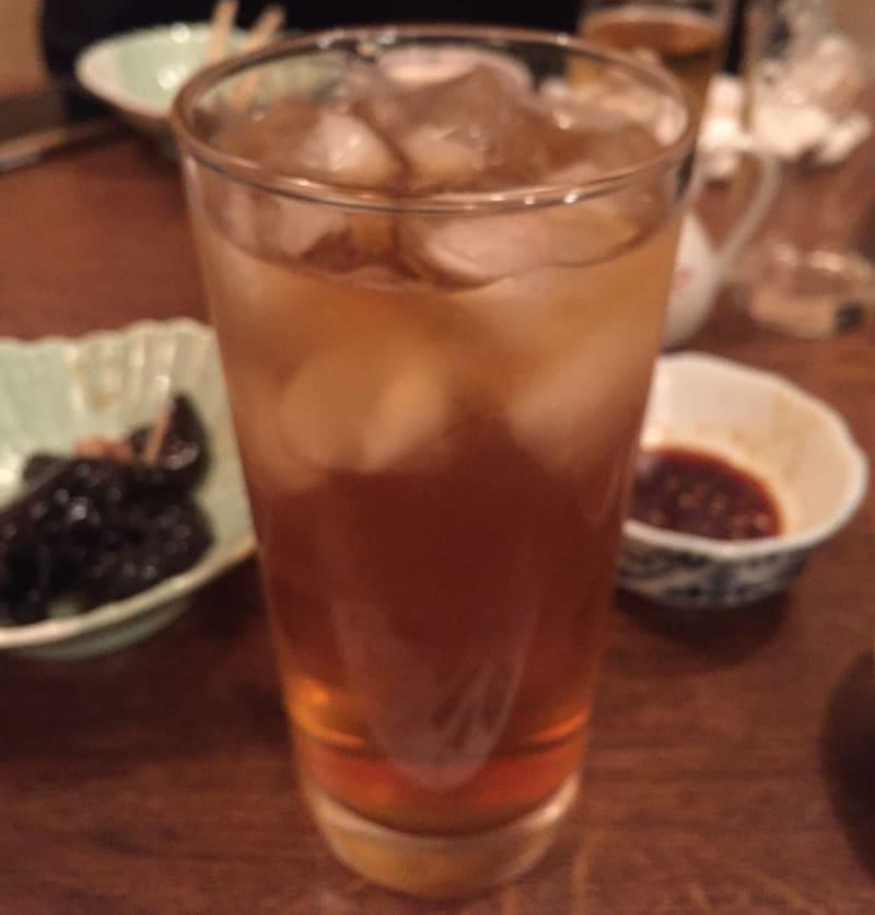 久米食堂 秋田県湯沢市上院内 ウーロンハイ