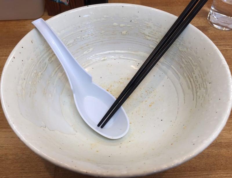支那そば まき 秋田県秋田市下新城 モツそば 味噌味 完食