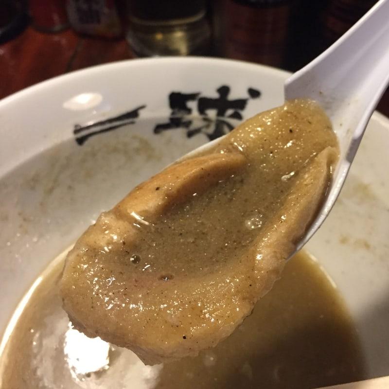 一球 秋田県秋田市手形 五代目煮干そば「極」改 超濃厚豚骨鶏白湯 麩