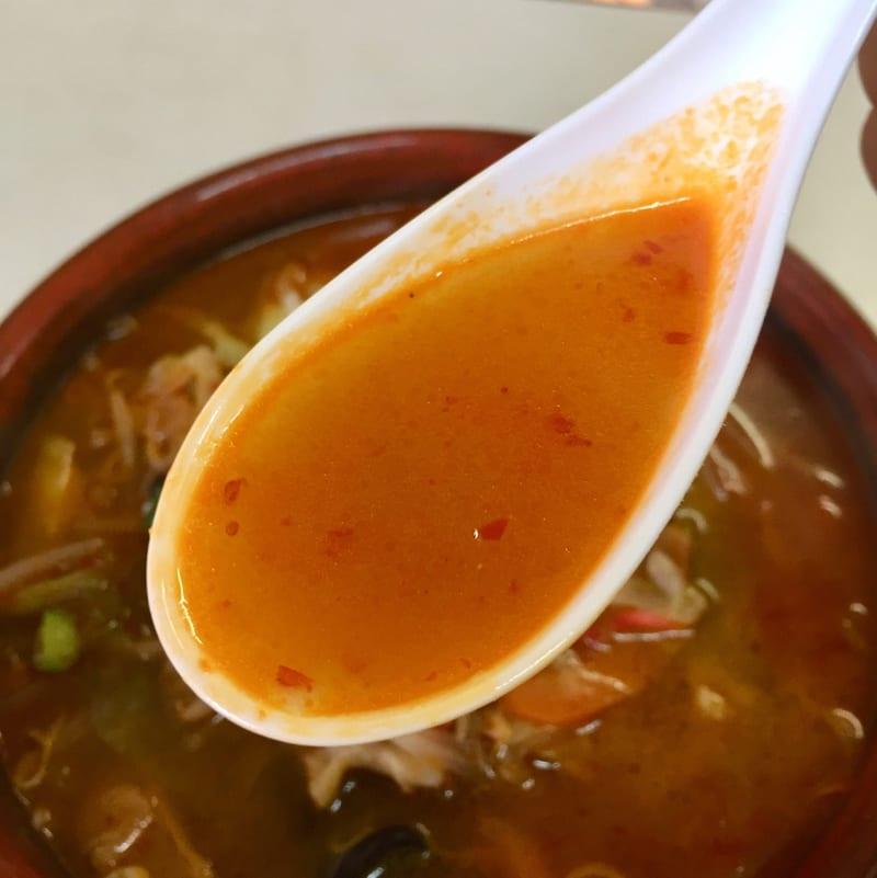 トレビアン食堂 秋田県山本郡藤里町 タンタンメン スープ
